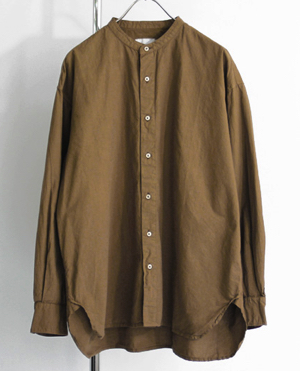 ARMEN(アーメン) Utility Banded Collar Shirt