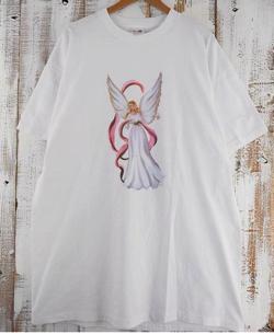 90's USA製 エンジェルプリントTシャツ