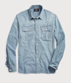 RRL Ralph Lauren インディゴ シャンブレー ワークシャツ