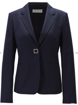 HUGO BOSS Slim-fit jacket in patterned virgin wool