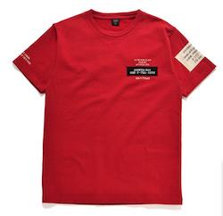 AVIREX(アヴィレックス)ステンシル&パッチ ネイビー T-シャツ