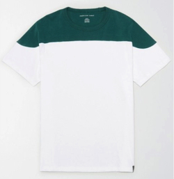 AMERICAN EAGLE AE Color Block T-Shirt Green