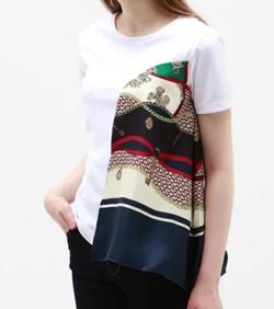 LOVELESS(ラブレス)ドレープ スカーフ Tシャツ