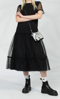 REDValentino チュールディテール ドレス