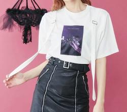 EATME ダブルベルトグラフィックTシャツ