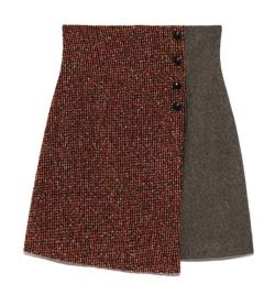 Lily Brown ツイードチェック台形スカート
