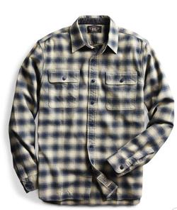 RRL Ralph Lauren プラッド コットンウール ワークシャツ