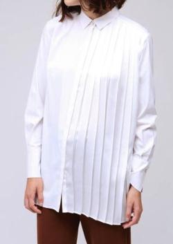 LOVELESS(ラブレス)ハーフプリーツ ロングシャツ