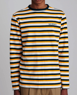 Saturdays NYC Alek Stripe Longsleeve T-Shirt