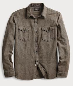 RRL (ダブルアールエル)ハウンドトゥース ツイルシャツ