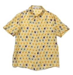 ROPE ETERNEL ビーチチェアープリントシルクツイル ハーフスリーブシャツ
