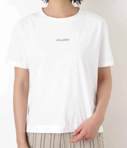 HUMAN WOMAN クルーネックロゴロングTシャツ