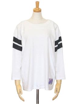 AMERICANA 丸胴ラフィー天竺フットボールTシャツ