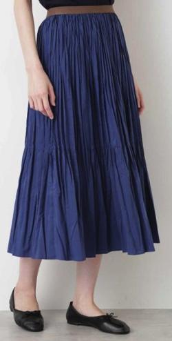 HUMAN WOMAN(ヒューマンウーマン)コットンポリエステルライトタンブラースカート