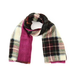 HUMAN WOMAN(ヒューマンウーマン)GLEN PRINCE 別注パッチワークプリント スカーフ