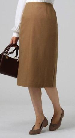UNTITLED (アンタイトル)ミルドウールジャージサイドスリットタイトスカート