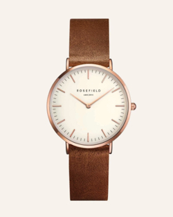 ROSEFIELD (ローゼフィルド), The Tribeca White Brown Rose gold 33mm