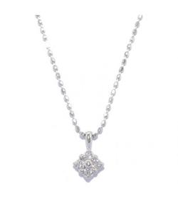 TAKE-UP(テイクアップ)ダイヤモンド4セキフラワーネックレス(WG)