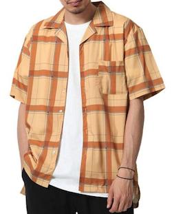 ZIP FIVE 半袖オープンカラーシャツ