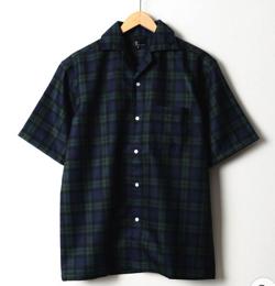 ZIP FIVE ポリシャンブレーワイドオープンカラーシャツ