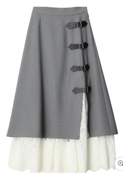 PAMEO POSE Layered Wrap Skirt