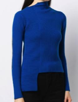 ENFOLD asymmetric hem knit top
