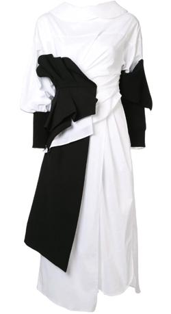 ENFOLD asymmetrical wrap dress