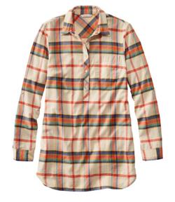 L.L.Bean(エル・エル・ビーン)Signature Lightweight Flannel Tunic Shirt