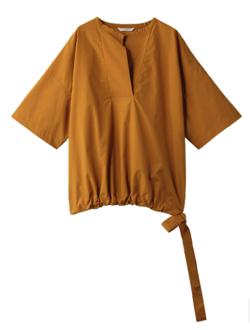 PLAIN PEOPLE( プレインピープル )スーピマコットンタイプライタースキッパーブラウジングシャツ