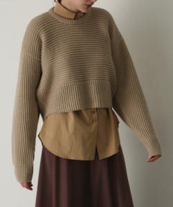 RIM.ARK(リムアーク)11/6- order start Back volume knit