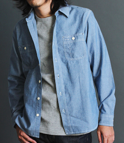AVIREX(アヴィレックス)DAILY L/S CHAMBRAY WORK SHIRT
