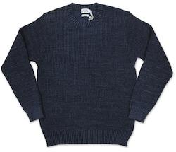 gim ウール混 ポップコーン2重編み クルーネックセーター