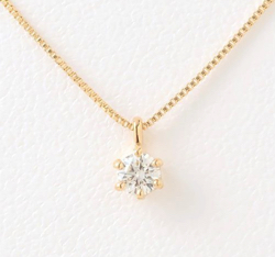 festaria bijou SOPHIA K18イエローゴールド ダイヤモンド・ピンクトルマリン ネックレス