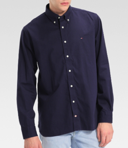 TOMMY HILFIGER コットンツイルシャツ