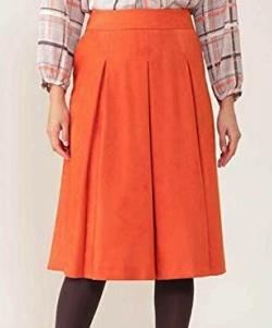 NATURAL BEAUTY(ナチュラル ビューティー)[Jクオリティ]エルモザスエードボックスプリーツスカート