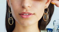 ROOM clear pivot earring