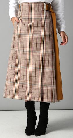 MAISON KITSUNE (メゾンキツネ)ラップスカート