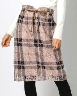 MISCH MASCH (ミッシュマッシュ)レースチェックタイトスカート