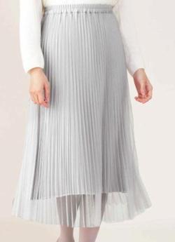 NATURAL BEAUTY(ナチュラル ビューティー)プリーツリバースカート