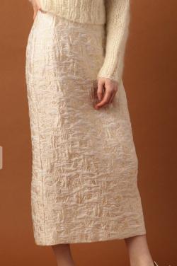 DEICY(デイシー)フラワーラメJQタイトスカート