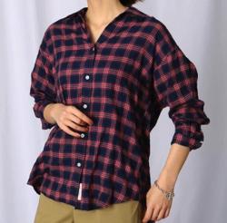 JET(ジェット)コットンレーヨンチェックシャツ