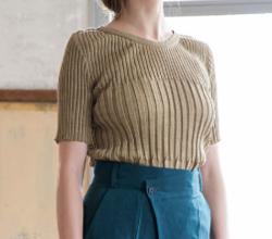 SALT+JAPAN 2019SS LINEN RIB knit PULLOVER