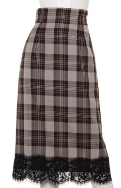 RANDA 裾レースタイトスカート