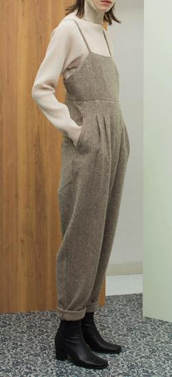 LEINWANDE Tweed Belted Jumpsuits