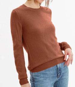 GUソフトリッチクルーネックセーター(長袖)
