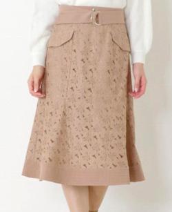 MISCH MASCH (ミッシュマッシュ)レースマーメイドスカート