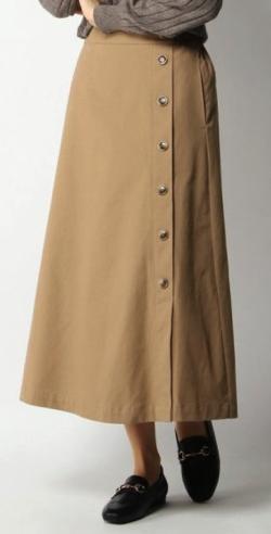 ikka (イッカ)サイドボタンAラインスカート