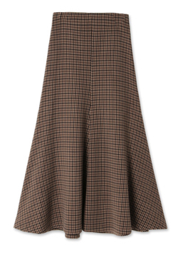 A.W.A.K.E.MODE Bell Gingham Skirt