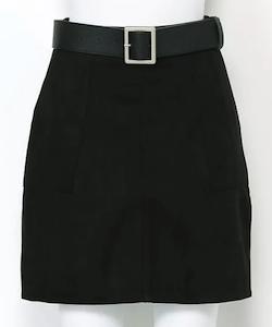 LIPSERVICE Fスエードポケットスカート