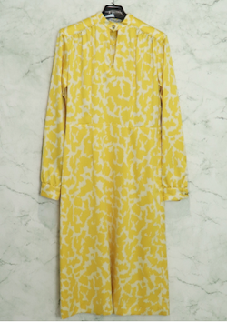 JOHNLAWRENCESULLIVAN (ジョン ローレンス サリバン)/ JSL FROWER PRINTED SATIN HI-NECK DRESS